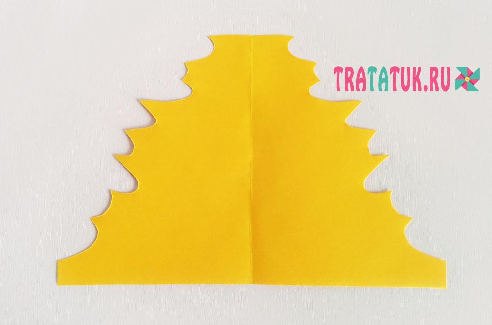 Как сделать листик из бумаги гармошкой
