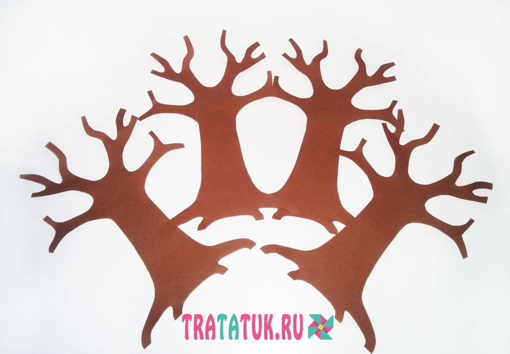 Как сделать своими руками объемное дерево на стену 262