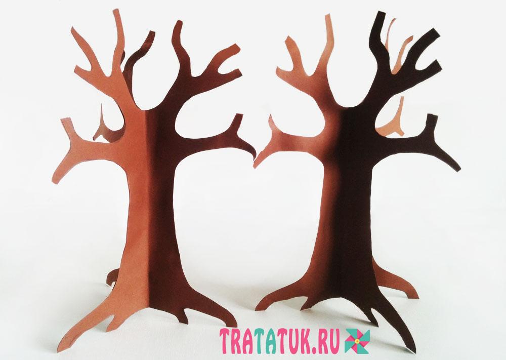 Как сделать объёмное дерево из бумаги своими руками 68