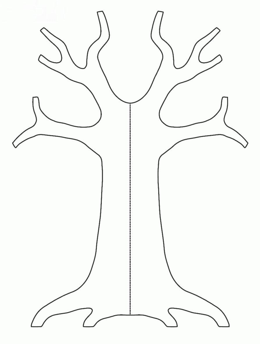Трафареты деревьев своими руками шаблоны 584