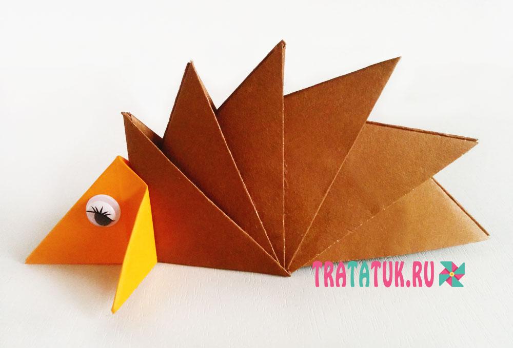 Поделки оригами ежики 90
