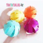 Гирлянда на день рождения: бумажные шары
