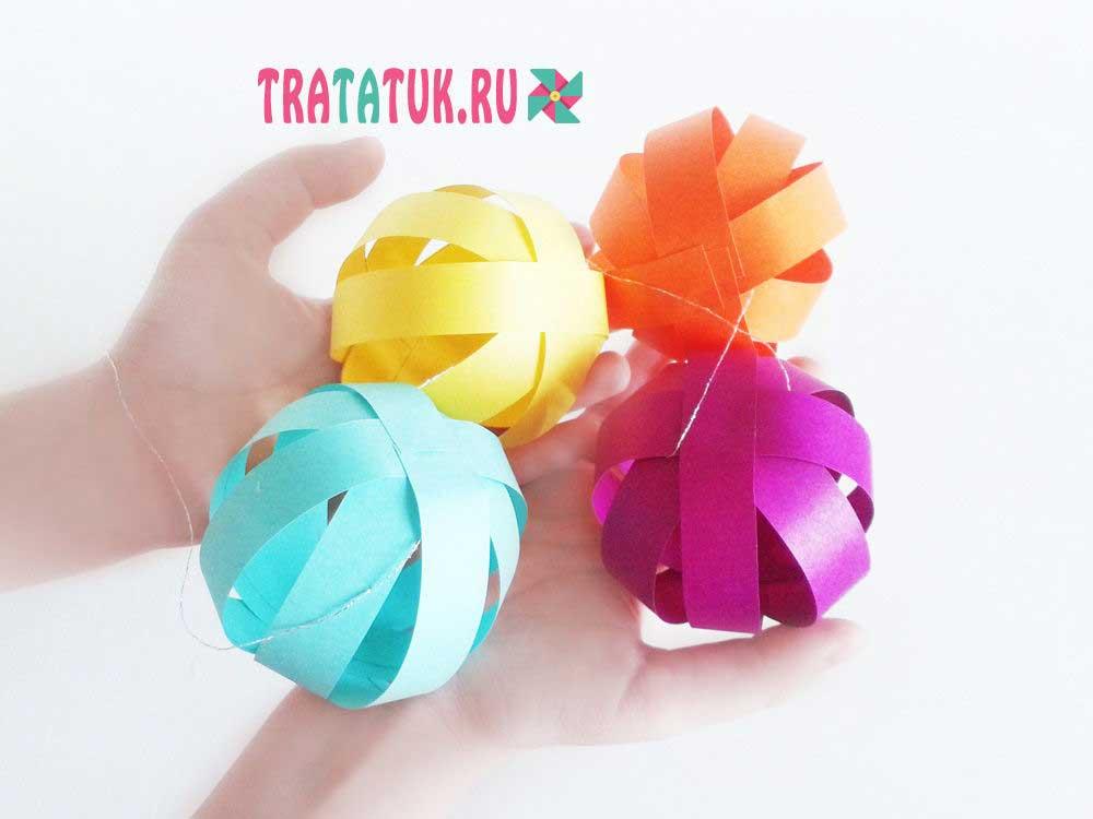 Гирлянда на день рождения в виде бумажных шаров