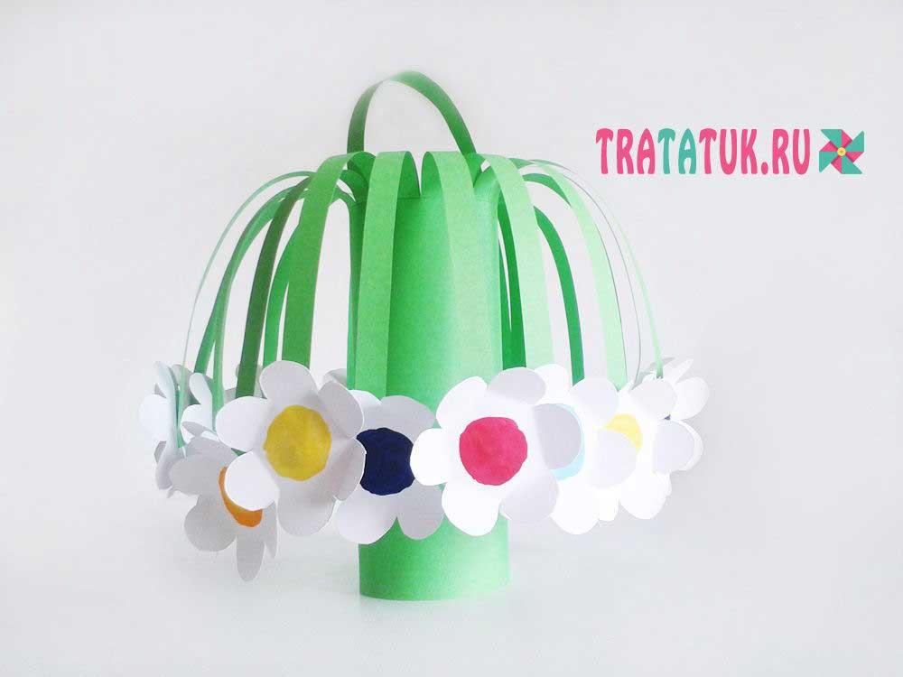 Корзинка с цветами для мамы