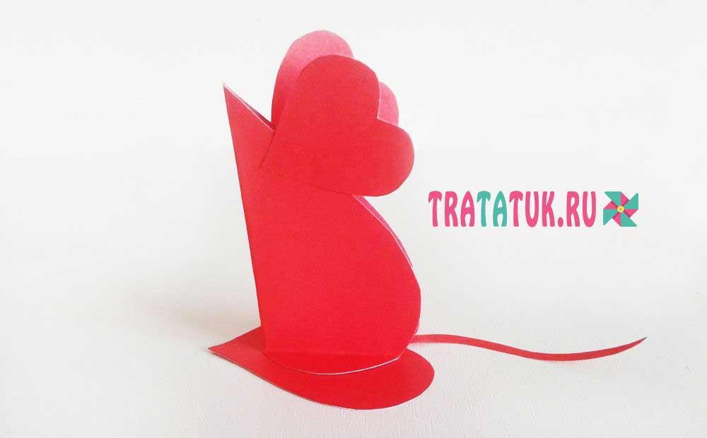 мышка из бумаги
