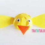 Цыпленок из полосок бумаги: простая детская пасхальная поделка