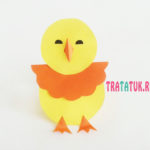 Цыпленок из бумаги: простая пасхальная поделка