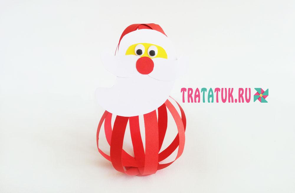 Дед Мороз из полосок бумаги