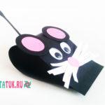 Очень простая мышь из бумаги
