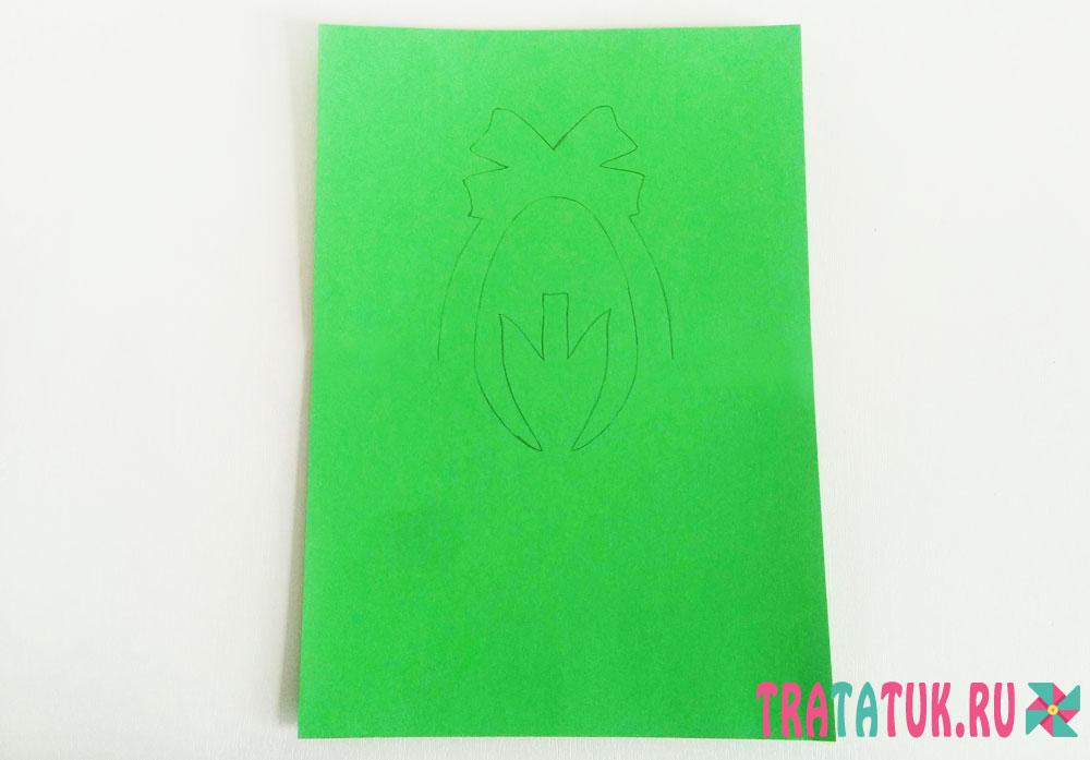Бумажный тюльпан для мамы