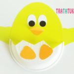 Цыпленок в яйце: поделка на Пасху из подручных материалов