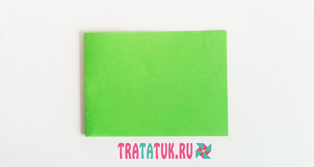 Листья гармошкой из бумаги