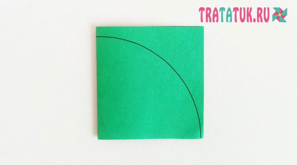 Листья из бумаги гармошкой