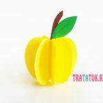 Объемное яблоко из бумаги: пошаговый обзор