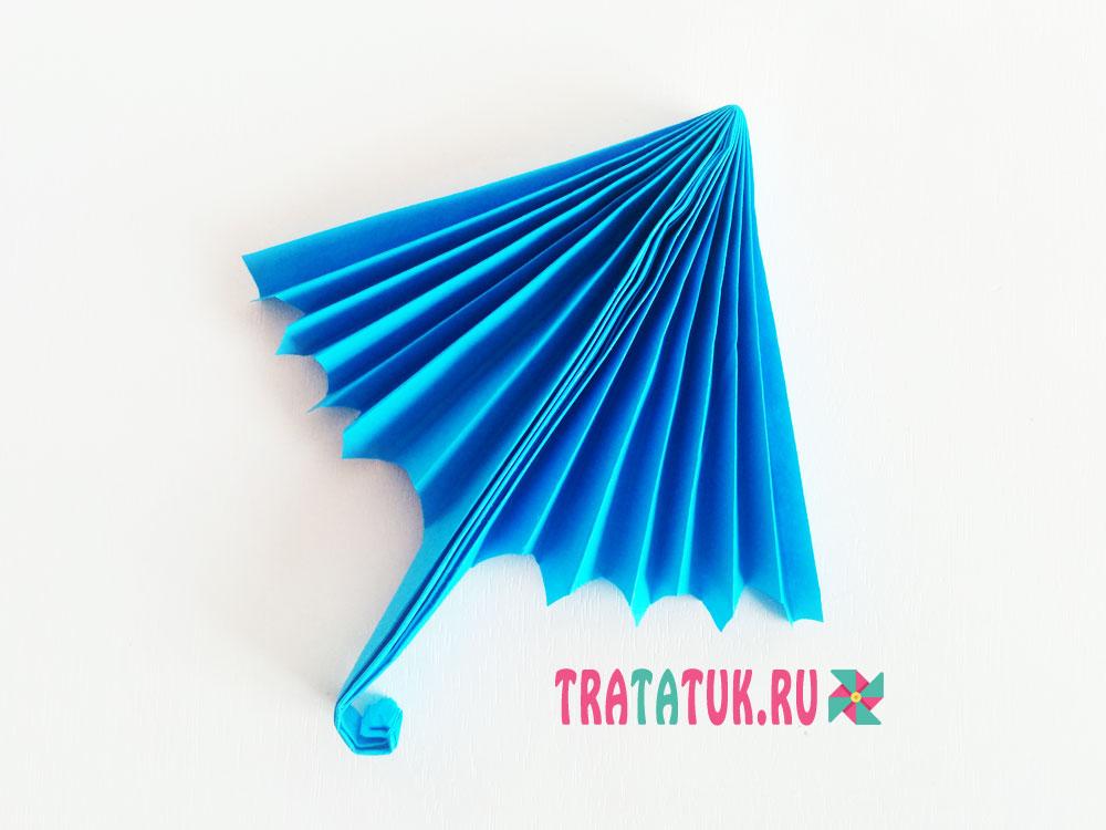 Зонтик из бумаги гармошкой
