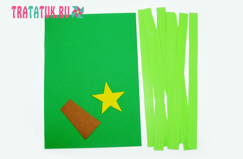 Елка-плетенка из цветной бумаги
