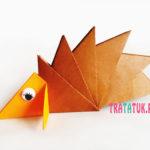 Ежик оригами из 7 модулей