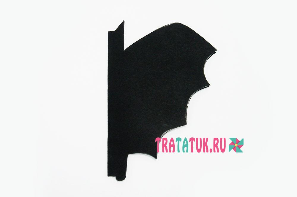 Летучая мышь из бумаги гармошкой