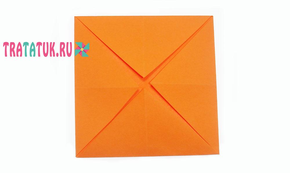 Оригами собачка из бумаги