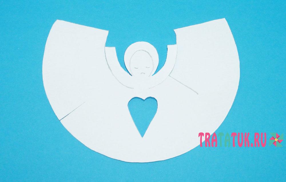 Ангел из бумаги: шаблоны, 5 вариантов с подробными фото