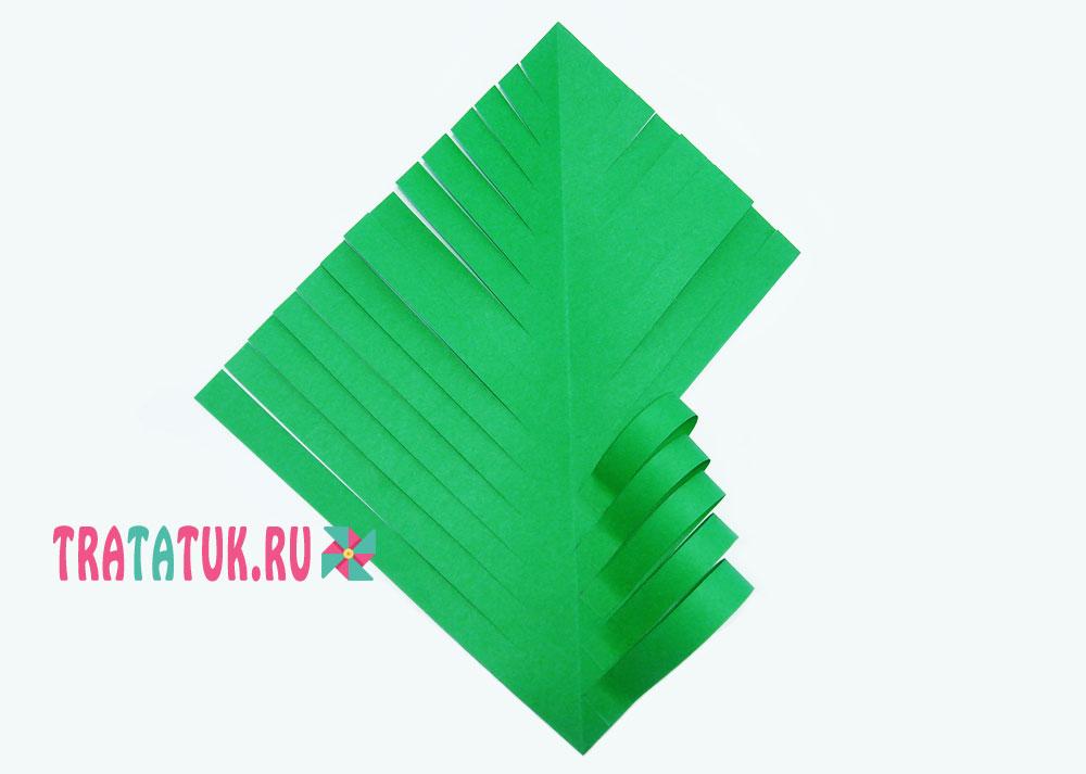 Объемная аппликация «Новогодняя елка»