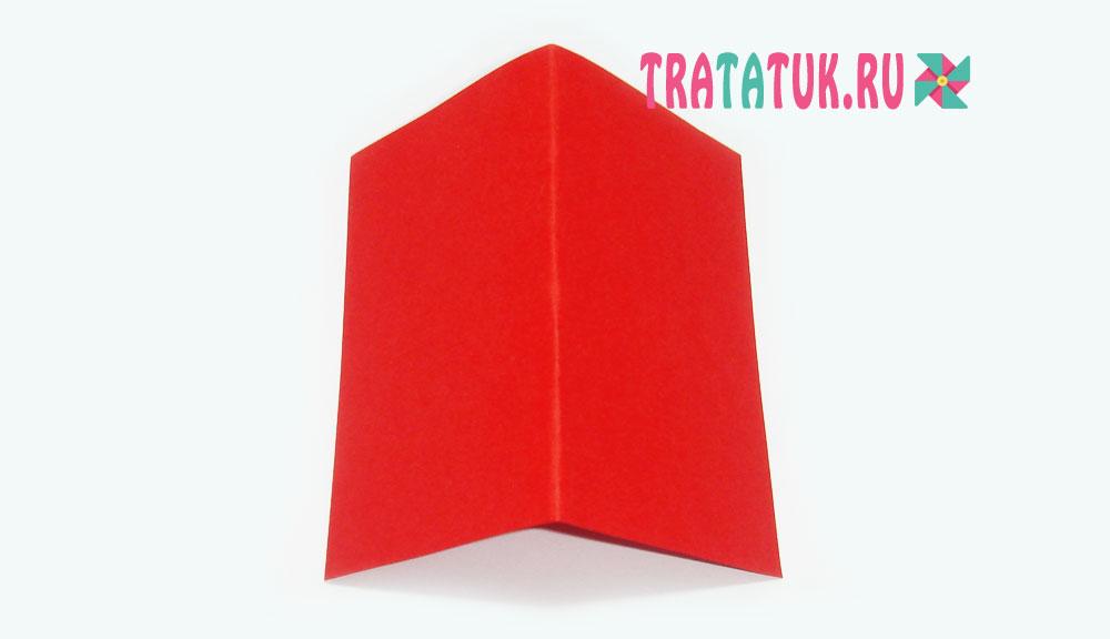 Зимний домик из бумаги