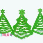 Объемные елки из бумаги: 3 шаблона с инструктажем