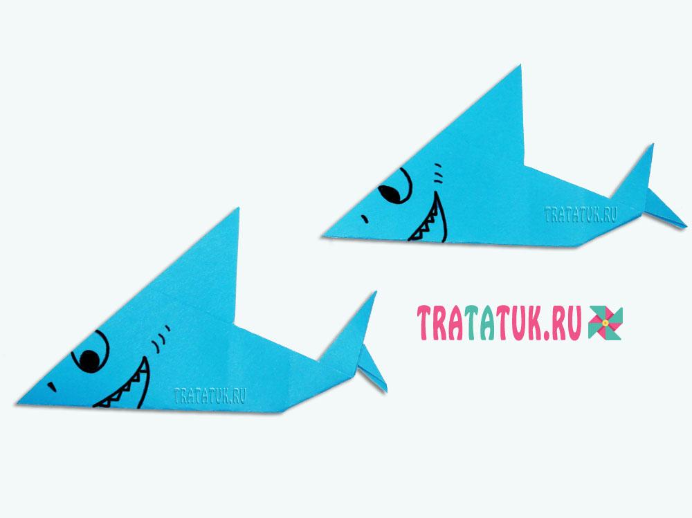 Оригами акула