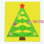 Простая аппликация с новогодней елкой