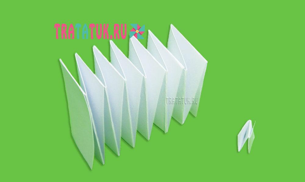 Овечка из бумаги гармошкой