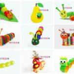 Как сделать гусеницу: пошаговые поделки для детей