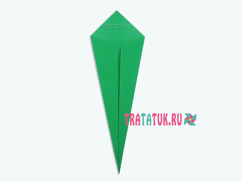 Оригами тюльпан для детей