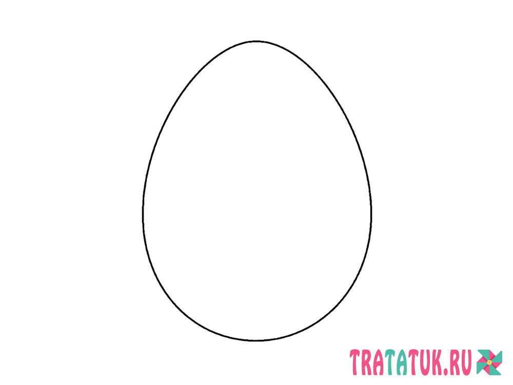шаблон яйца