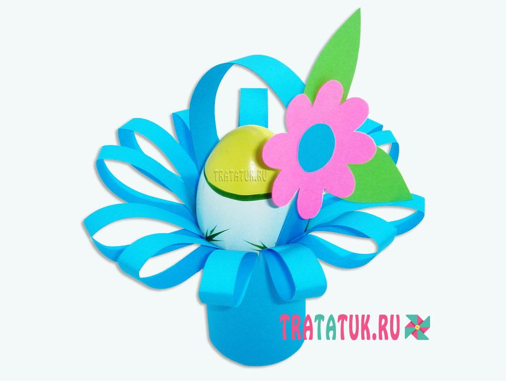 Пасхальная корзинка в виде цветка
