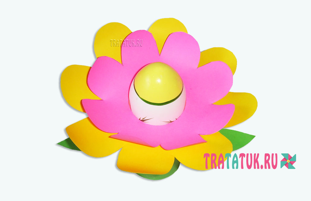 Подставка под яйцо в виде цветка