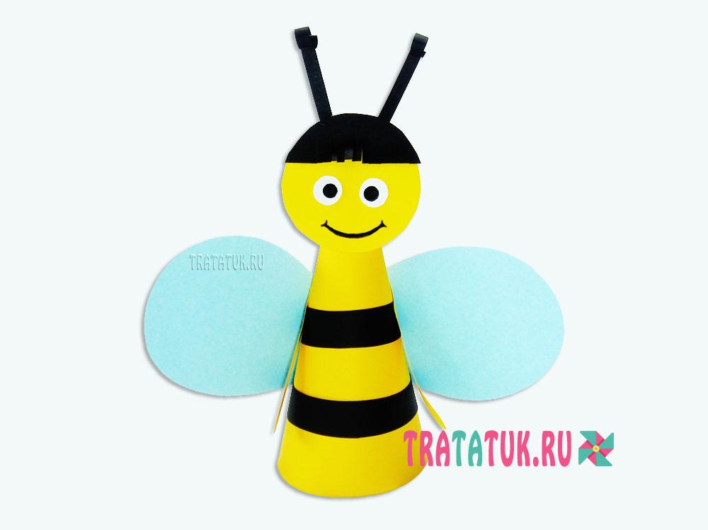 Пчела из бумаги