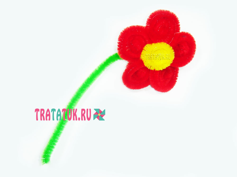 Цветок из синельной проволоки