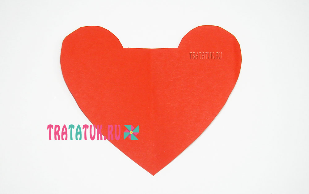 Открытка »Пылающие сердца»