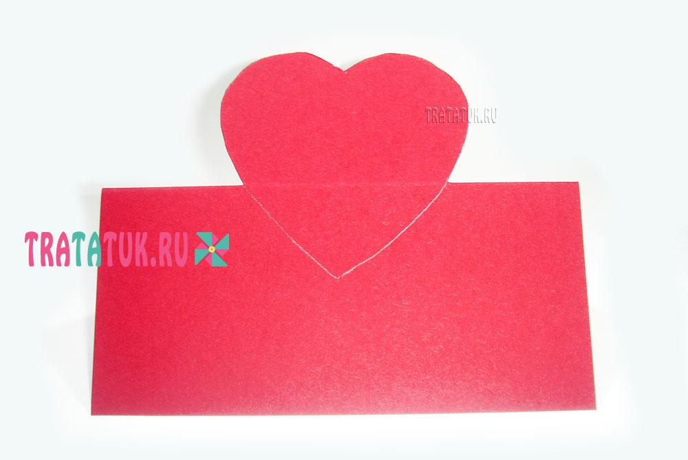 Настольная открытка «Сердце в цветах»