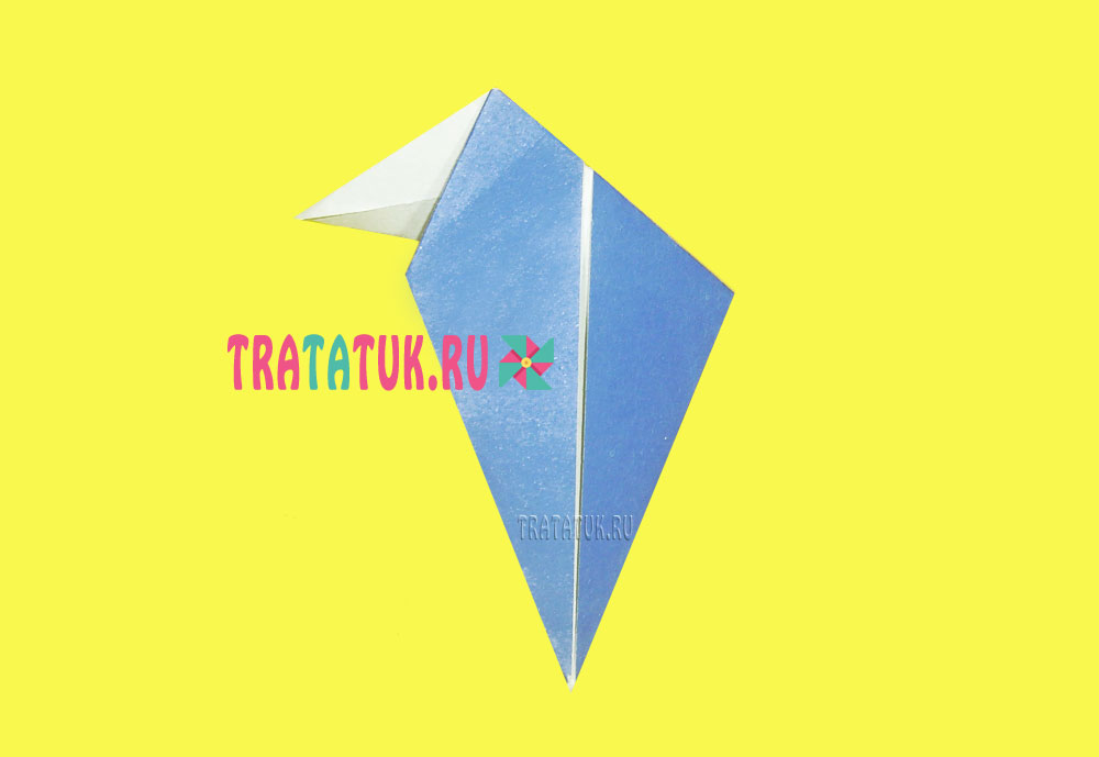 оригами дятел