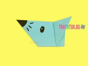 Оригами мышка для детей