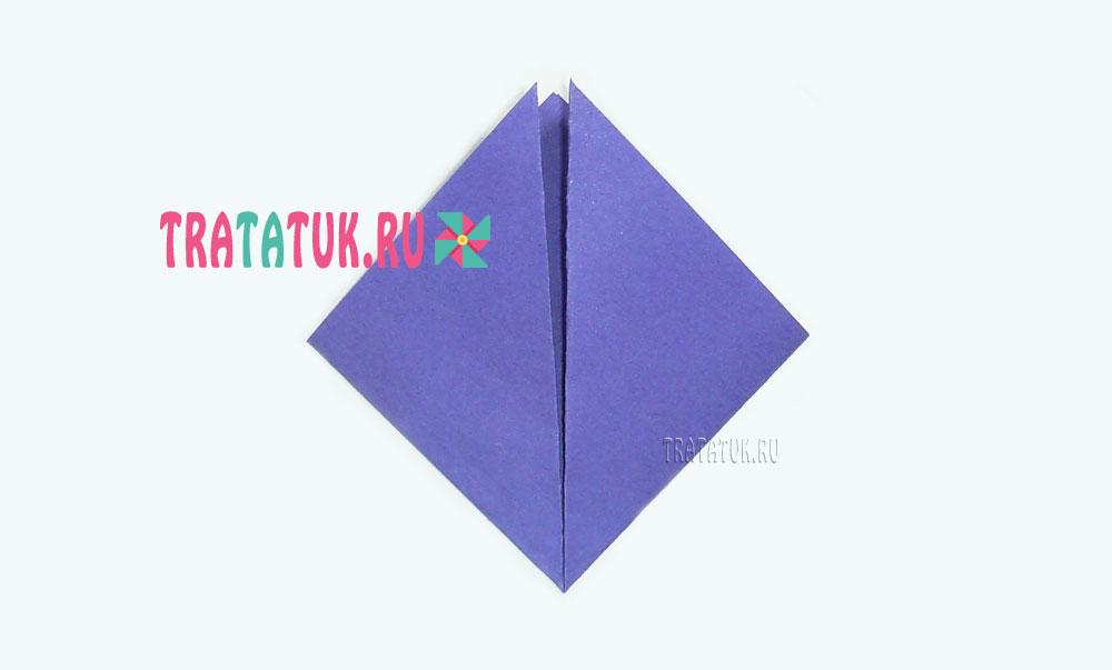 оригами птичка