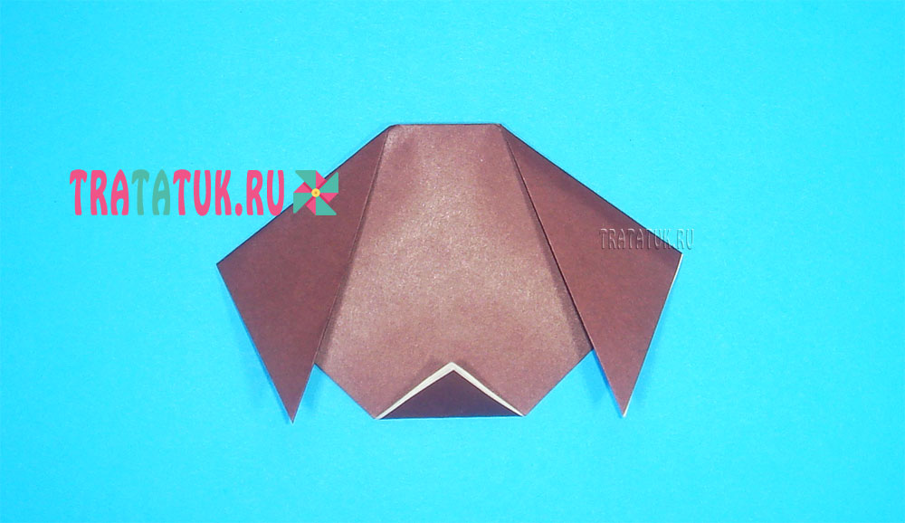 Оригами собака для детей