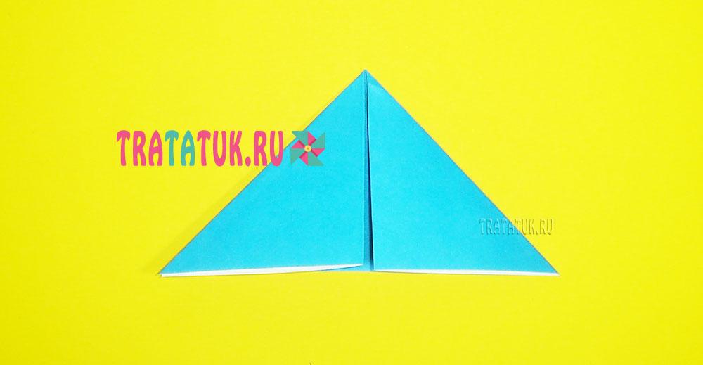 Оригами зайчик