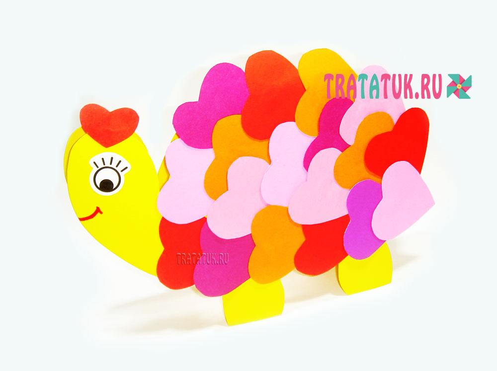Влюбленная черепаха на Валентинов день