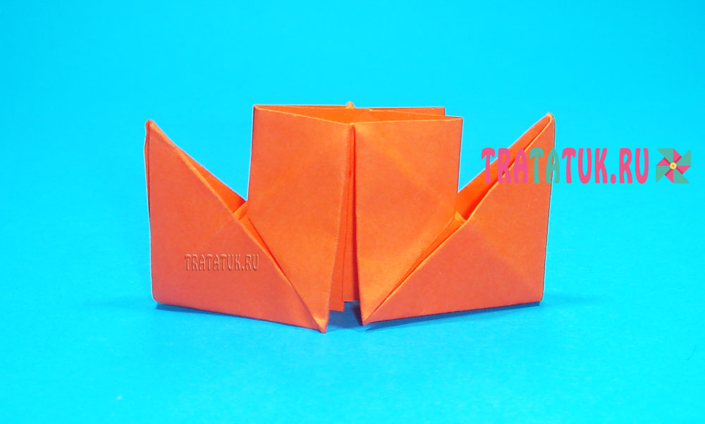 оригами пароход с трубами