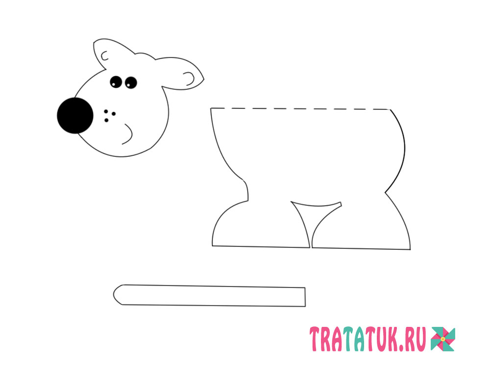 собака из картона