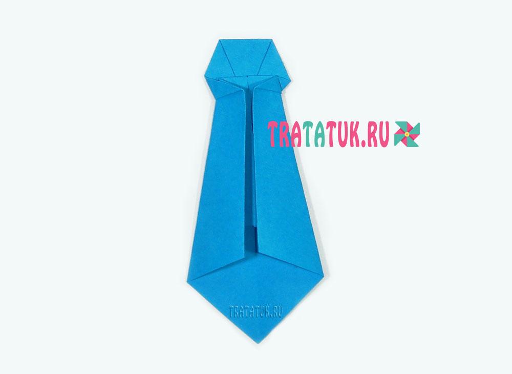 как сделать оригами галстук