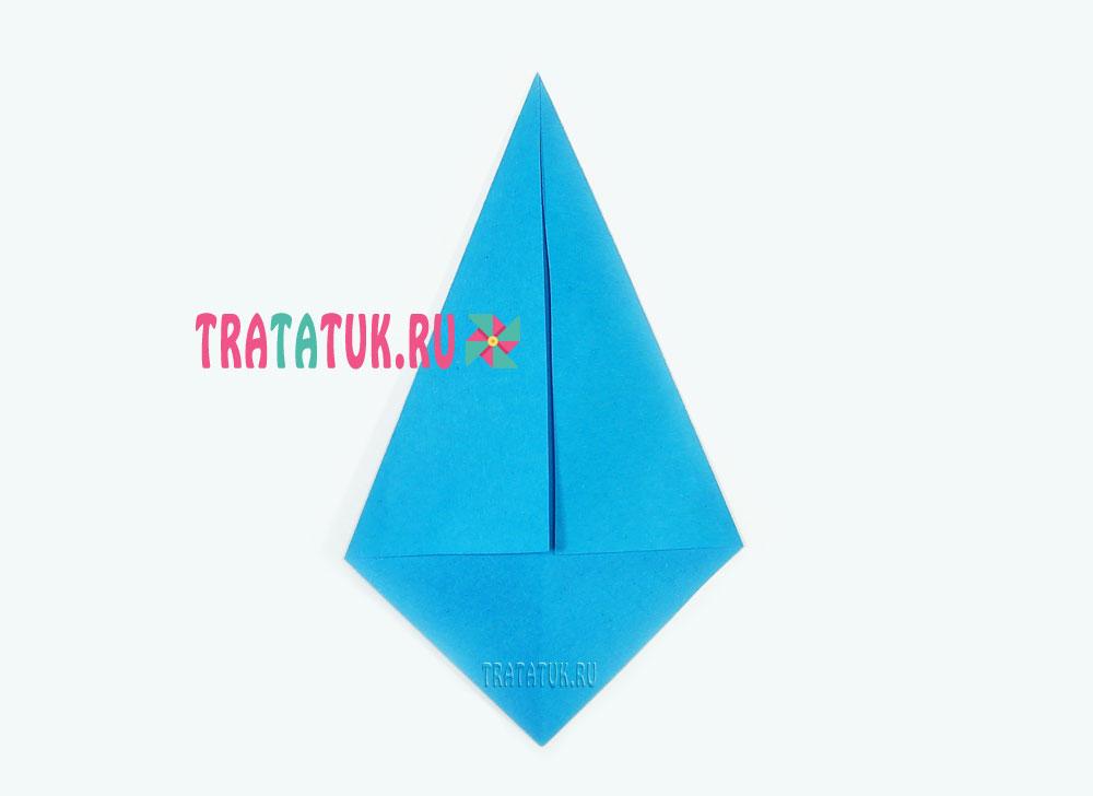 Оригами галстук пошагово