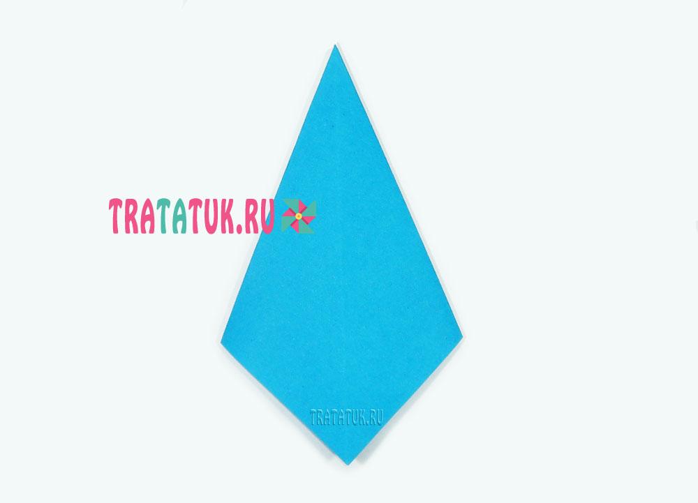 Оригами схема галстука